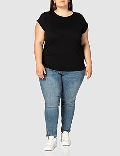 2971 3 urban classics damen ladies   Urban Classics Damen Ladies Extended Shoulder Tee T-Shirt, black, L