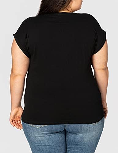 2971 4 urban classics damen ladies   Urban Classics Damen Ladies Extended Shoulder Tee T-Shirt, black, L
