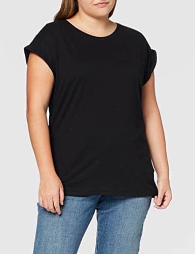 2971 7 urban classics damen ladies   Urban Classics Damen Ladies Extended Shoulder Tee T-Shirt, black, L
