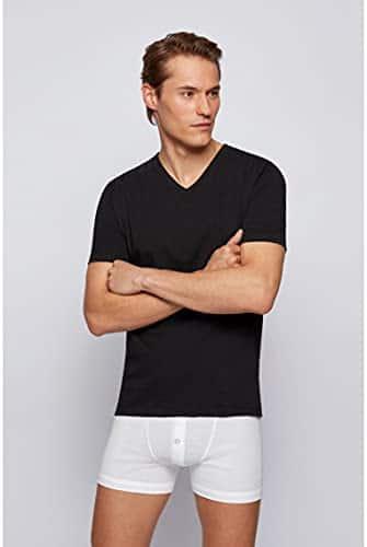 3441 7 boss herren t shirt vn 3p co d   BOSS Herren T-Shirt VN 3P CO Dreier-Pack T-Shirts aus Baumwolle mit V-Ausschnitt