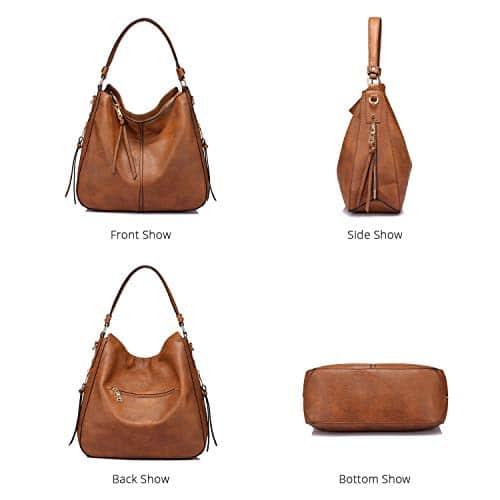 3655 7 handtaschen damen lederimitat   Handtaschen Damen Lederimitat Umhängetasche Designer Taschen Hobo Taschen groß Mit Quasten Braun